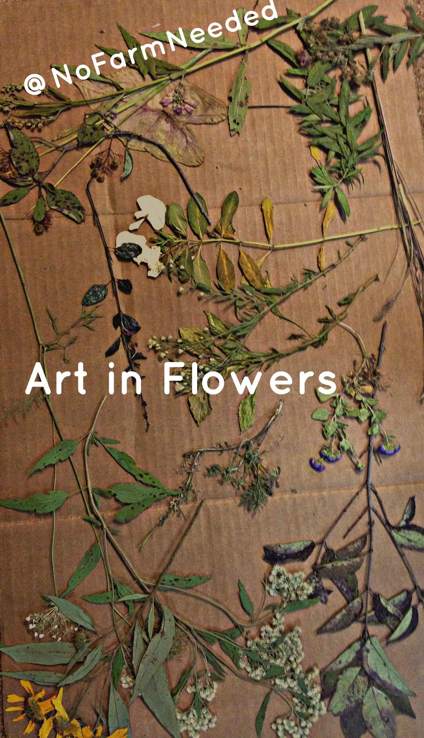 Art in Flowers @NoFarmNeeded