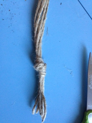 Knot for ropes in Macrame